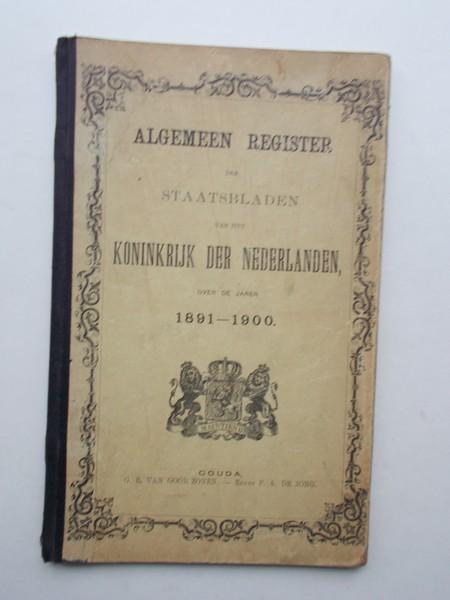 RED. - Algemeen register. Staatsbladen voor het Koninkrijk der Nederlanden,