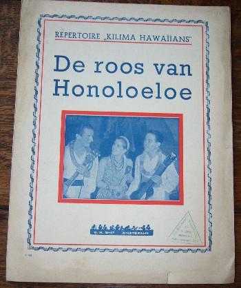 (KILIMA HAWAIIANS). - Repertoire Kilima Hawaiians. De roos van Honoloeloe.