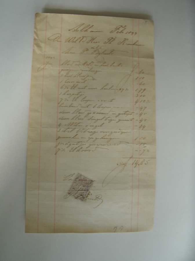 manuscript. - Alkmaar febr. 1899. Aan weled. Heer Th. Kraakman van P. Byleveld (..).