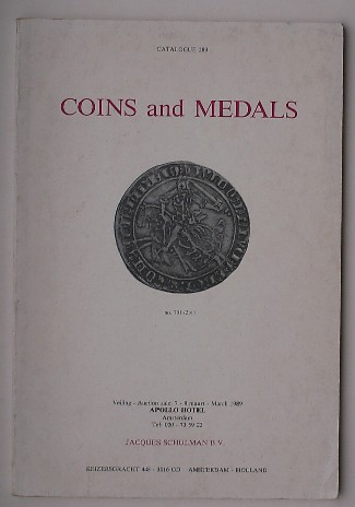 ED.- - Jacques Schulman. Coins and Medals. Auction catalogue 289.