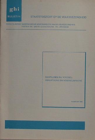 RED. - GHI bulletin. Richtlijnen bij voedselvergiftiging en voedselinfectie.