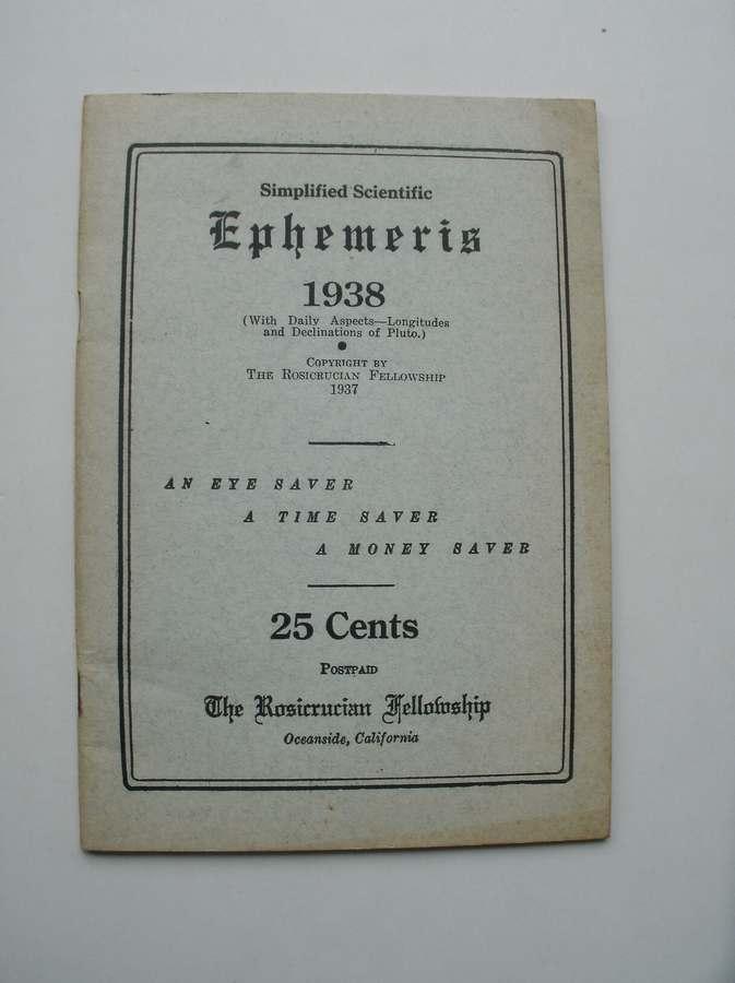 RED. - Simplified Scientific Ephemeris 1938.
