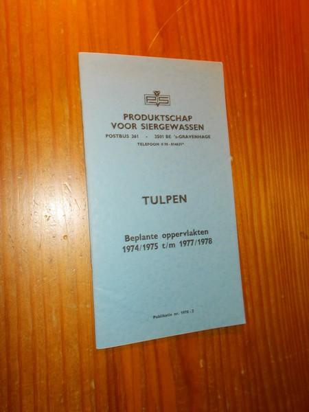 RED. - Tulpen. Beplante oppervlakten 1974/1975 t/m 1977/1978.