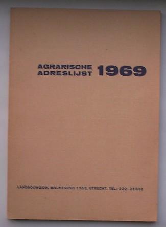 RED. - Agrarische adreslijst 1969.