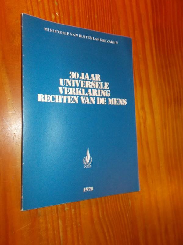 RED. - 30 jaar universele verklaring rechten van de mens.