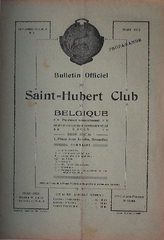 RED. - Bulletin officiel du Saint Hubert Club de Belgique.
