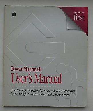 RED. - Power Macintosh User`s manual. 8200 Series.