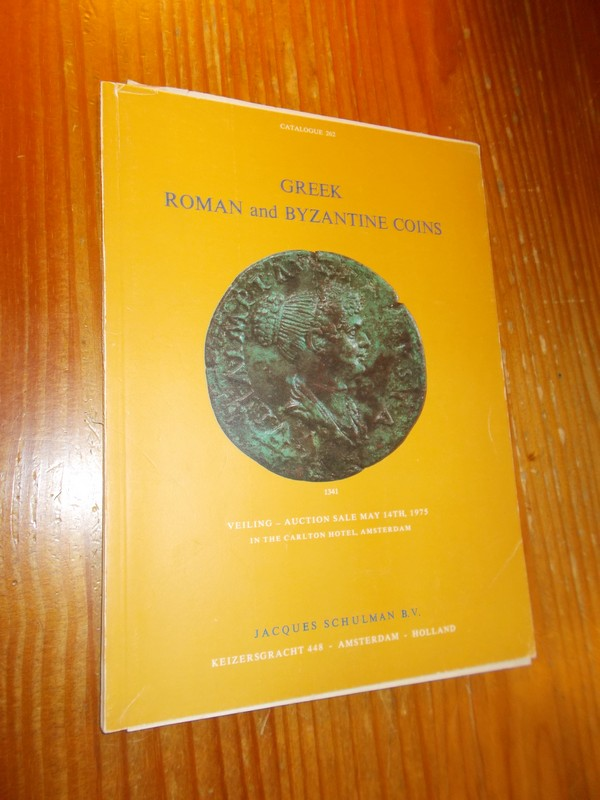RED. - Jacques Schulman. Greek, Roman and Byzantine Coins. Auction Catalogue.