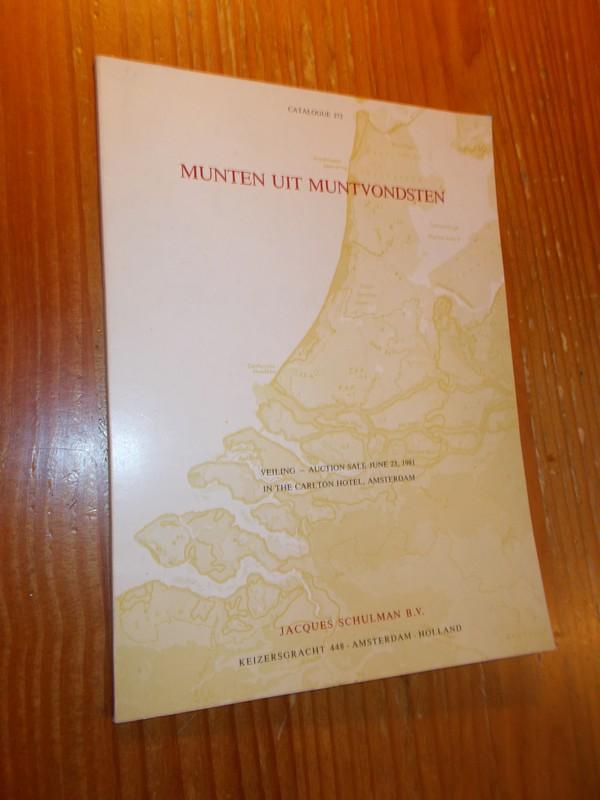 RED. - Jacques Schulman. Munten uit muntvondsten. Coins from the Hoards. Catalogue 272.