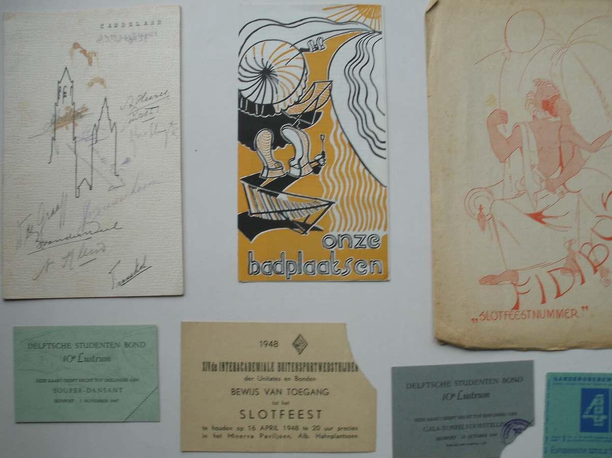 (DELFT) - Delftsche (Delftse) Studenten bond. 10e Lustrum 1947.