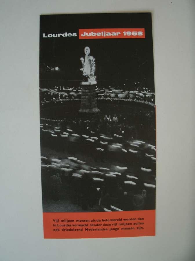 RED. - Lourdes jubeljaar 1958. Jongeren bedevaart.