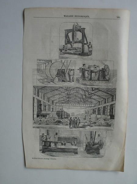 antique print (prent). - Du Great Western-Railway, a Swindon.