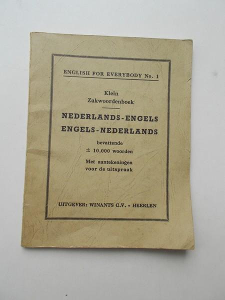 RED. - Klein zakwoordenboek. Nederlands-Engels. Engels-Nederlands.