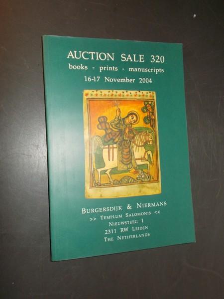 RED. - Burgersdijk & Niermans. Auction sale 320.