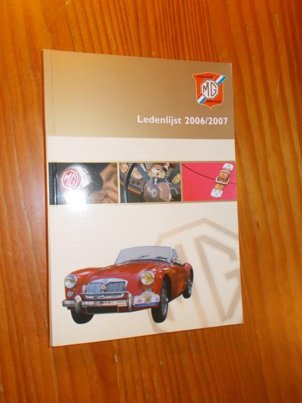RED. - MG carclub Holland. Ledenlijst 2006/2007.