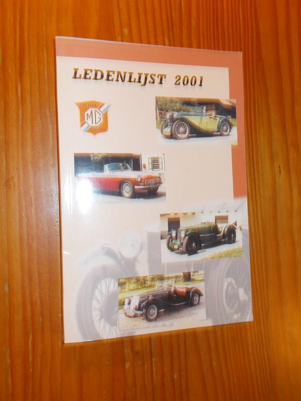 RED. - MG carclub Holland. Ledenlijst 2001.