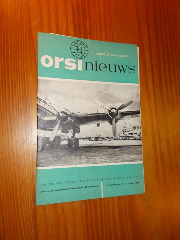 Orsi Nieuws. Maandblad voor...